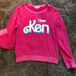 Wildfox I love ken pink sweatshirt large